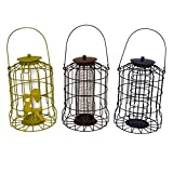 Set of 3 x Kingfisher Squirrel Proof Bird Feeders – Nut, Seed & Fat Ball