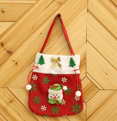 Upstudio Party Taschen Kreative Applique Einkaufstasche Candy Bag Weihnachten Tuch Geschenktüte (Schneeflocke)