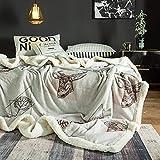 GJFLife Flanell Daunendecke Decke Steppdecken, Warme Lamm Kaschmir Bettdecken Duvet Single Twin Size Dicke steppdecke-H 150x200cm(59x79inch)