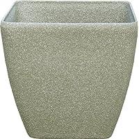 Pietra Luce SK Serie 35 cm Cast pietra rotonda Planter - Calcare (confezione da 4)