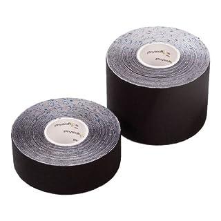 PhysioRoom Japanese Therapeutic Kinesiology Tape Tex 2.5cm x 5m Black