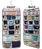 MISSLO 42 Pockets Hanging Closet wardrobe Storage Bra Underwear Socks Ties Organiser