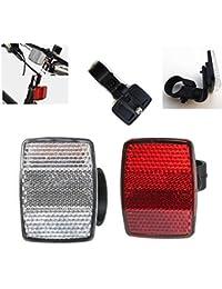 Bazaar Rouge argent réflecteurs arrière avant de la sécurité à vélo par satellite de cycle vélo de vélo
