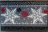 Wash+Dry Waschbare Fußmatte - Winter Stars - Sterne Weihnachten 50x75 cm - Fußabstreifer für die Winter- und Weihnachtszeit