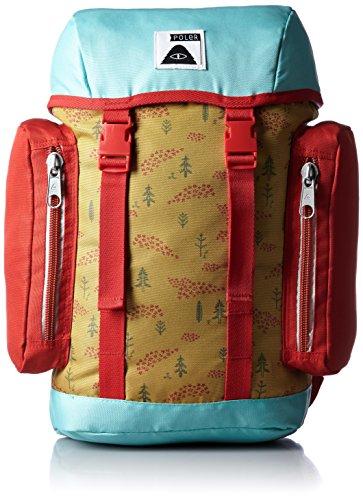 POLER Bag Mini Rucksack, Almond Forestry Print, 50 x 40 x 6 cm, 10 Liter