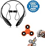 #8: Captcha Sony Xperia XA Compatible Certified HBS-730 Bluetooth Wireless Stereo Headset with Fidget Hand Spinner for Fun, Anti-Stress, Focus, ADHD, Anxiety & Autism spinning(1 Year Warranty)