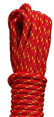 Corde en polypropylène 6 mm Différentes couleurs et tailles 20 m rouge/jaune