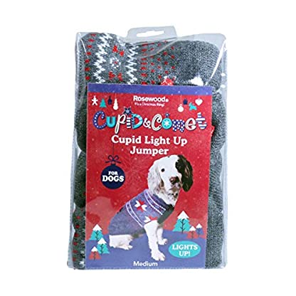 Rosewood Christmas Cupid Light Up Jumper For Dogs, Large 4