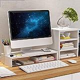 Rack per l'aumento del monitor del computer Legno Contenitore per desktop semplice e moderno Staffa di base Lo schermo del laptop aumenta la memoria del desktop 1/2 strato Con cabinet a 3 livelli