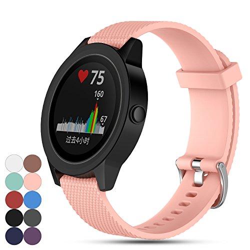 ve 3 GPS Smartwatch Armband, Feskio Ersatz Weich Silikon Sport Schnellverschluss Armband Gurt für Garmin Vivoactive 3 ()