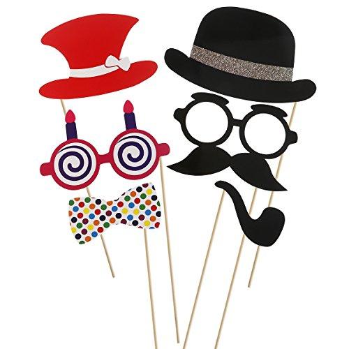 Tinksky-60pcs-adultos-Funny-Photo-Booth-Props-gafas-barba-Tie-corona-del-sombrero-para-boda-cumpleaos-Navidad-fiesta-Favor