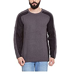 Yepme Mens Grey Cotton Sweaters - YPMSWEATER5073_L