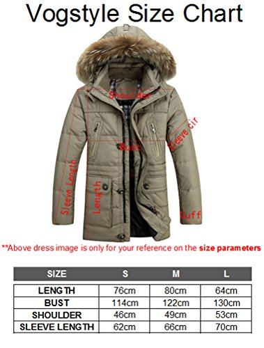 Vogstyle Herren Kapuzenparka Winterjacke Winter Mantel Jacket mit Futter Warm Abnehmbare Hoodie Parka Wintermantel Herrenmantel Style 7-Black