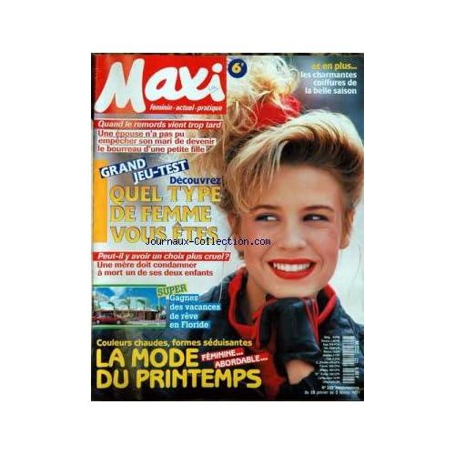 MAXI [No 227] du 04/03/1991 - CANCER - MARTYRE DES ENFANTS - COIFFURES - DRAME DU DIVORCE - RECETTES.