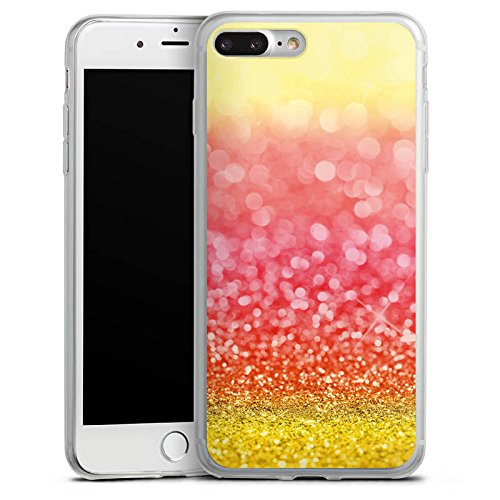 Apple iPhone 8 Slim Case Silikon Hülle Schutzhülle Spanien Flagge Glitzer Silikon Slim Case transparent