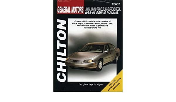 Chilton 88-96 GM Lumina Grand Prix Cutlass Regal Repair Manual 28682