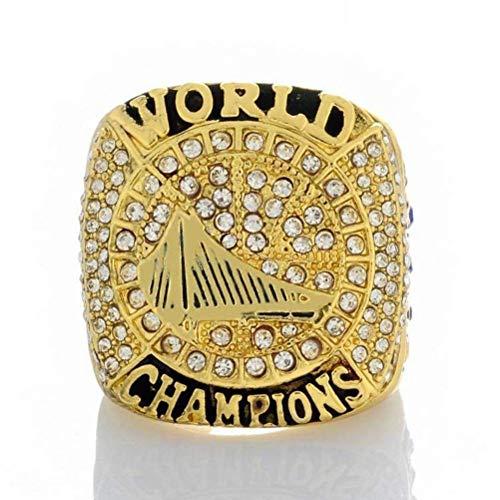 GJZ Sportfans Kollektion Champion Rings Fans Herren Memorial Rings High-End Kollektionen Fans Alloy Rings Herren Accessoires Vintage Accessoires, Gold, 10