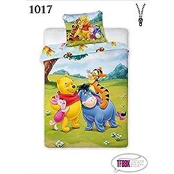 TFBBK Children's Bed Linen, with Disney Winnie The Pooh Motif, 2-Piece Set, 100 x 135cm and 40 x 60 cm