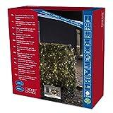 Konstsmide 3731-100 LED Lichterkette / für Außen (IP44) /  Batteriebetrieben: 4xD 1.5V (exkl.) / mit Lichtsensor, 6h und 9h Timer / 480 warm weiße Dioden / schwarzes Kabel