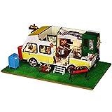 Momola Puzzle Handgemachtes Spielzeug,Hölzern DIY Puppenhaus Miniatur-Kit,Holiday Leben Miniatur...