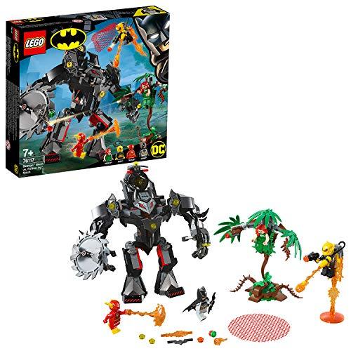 LEGO® - DC Comics Batman vs. Robot de Hiedra Venenosa, Juguete Divertido de construcción de Aventuras con Minifiguras de Flash y Firefly, Multicolor ES 76117)