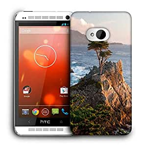 Snoogg Trees Near The Sea Printed Protective Phone Back Case Cover for HTC One M7
