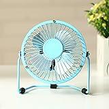 CivilWeaEU Ventilateur USB / petit ventilateur / grand ventilateur / mini ventilateur / ventilateur silencieux / ventilateur ( Couleur : Bleu )