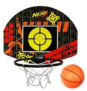 NERF Indoor Basketball & Target Set - Black