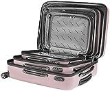 Packenger Velvet Koffer, Trolley, Hartschale  3er-Set in Mauve, Größe M, L und XL - 10