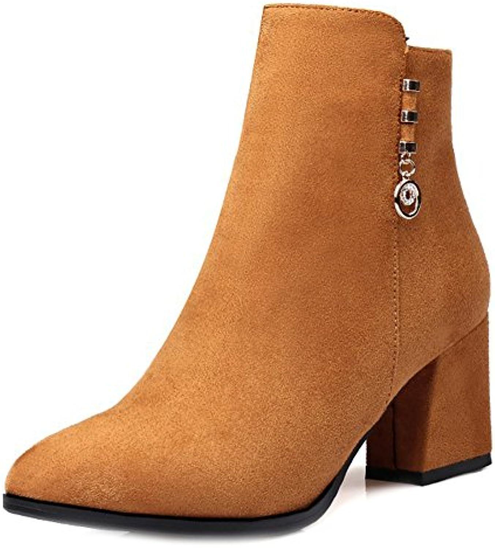 886de932e55 Aisun Women s Comfy Faux Frosted Pointed Toe Zipper Martin Boots Boots  Boots Shoes B0768YPP8H Parent 0be5b4