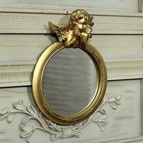 Dorado-Cherub-espejo-de-pared