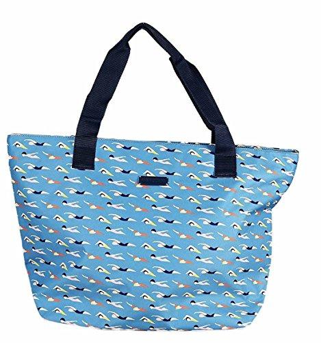 Lili Petrol - Sac shopping Training bleu