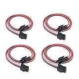 4 pcs/paket 0.5m/1.64ft 3 Pin JST SM Männlich Weiblich Stecker Led-anschluss Kabel Für WS2812B WS2811 SK6812 symphony LED lichter mit anschlüssen SM 3P controller draht
