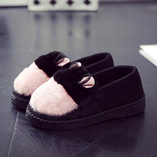 DogHaccd pantofole,I fagioli di soia Autunno Inverno Moda scarpe anti-slittamento warm indoor e outdoor di cotone di usura pantofole inverno più spessa di velluto di cotone di donne scarpe con il pacc Rosa4