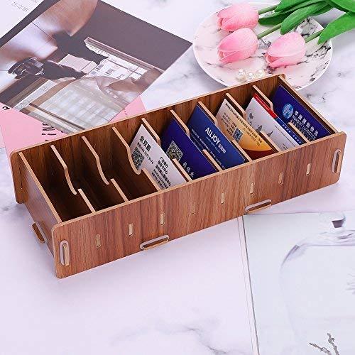 Organizador de escritorio madera creativo DIY schreibwaren Tarjetas de Visita–Bandeja para cartas Organizador de escritorio oficina Salón, color Sakuragi