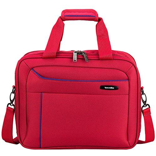 Travelite SOLARIS Bordtasche, 88104-01 Koffer, 38 cm, 14 L, Schwarz/Limone Rot/Blau