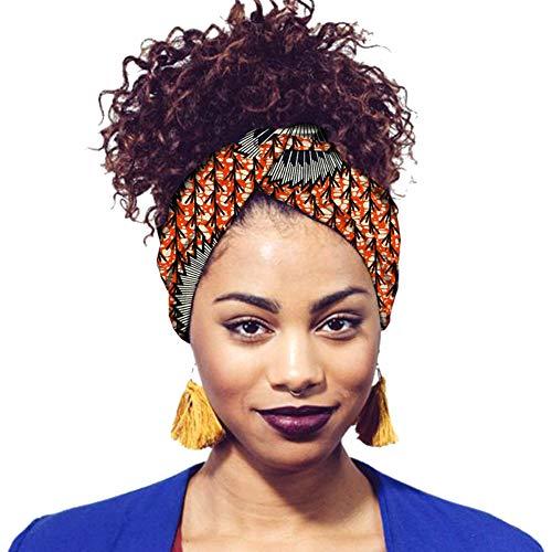 Haodasi Stirnbänder für Frauen Retro Floral Afrikanischen Damen Druckkopf Wickelschals Twisted Chic Haarschmuck