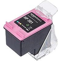 AmazonBasics - Wiederaufbereitete Tintenpatrone für HP 301, Dreifarbig