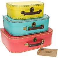 Sass and belle by RJB Stone - Valise, Trolley - Set de 3 valisettes Retro Flashy