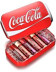 Lip smacker Coffret Cadeau Boîte Métal Coca Cola Canette 6 Baumes à Lèvres