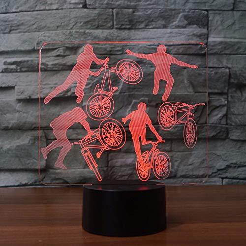 orangeww 3D Golf LED Nachtlicht USB Nachtlicht des Ritters mit 7 Farben Schlafbeleuchtung Schlafzimmer Dekoration Bar Nacht Kind Kollege Freund Gedenkgeschenk