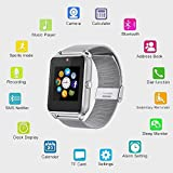 Nestar NR09 Smartwatch Phone with Sim card and Metal Watchband for Iphone5S/6/6S and 4. 2 Android or Above Smartphones (Black)