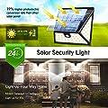 Luposwiten LED 82 Sensorlampe für Außen mit Solarpanel Bewegungserkennung Sicherheitsbeleuchtung für Außen, Weitwinkel-Beleuchtung Wandleuchten für Garten, Hof, Zaun, Garage, Terasse, Pfad, Einfahrt Wireless Sensorlampen mit Solarpanel[IP65 Wasserdic