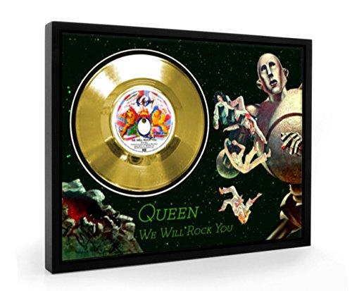 Queen We Will Rock You Framed Disco de Oro Display Vinyl (C1)