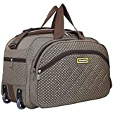 Nice Line 40 L Polyester Travel Duffel Bag with 2 Wheels/Spacious Compartment for Both Men and Women (Brown)