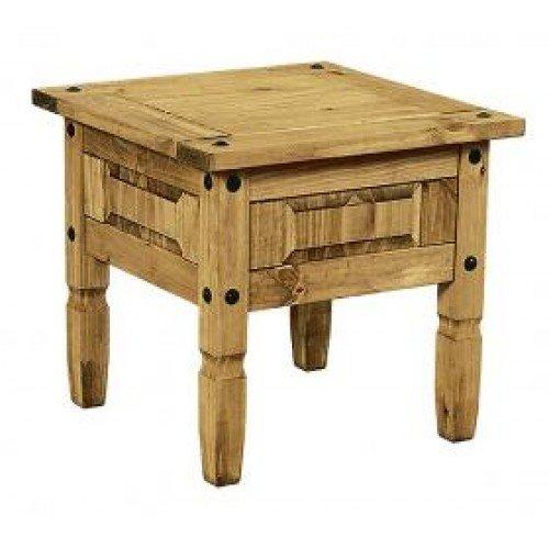 Mercers Furniture Corona Lampentisch, Holz, antique wax, 59 x 59 x 53 cm (Couchtisch Wohnzimmer-massive Kiefer)