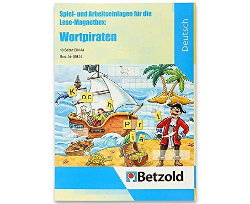 Preisvergleich Produktbild Betzold Wortpiraten, Spiel- und Arbeitseinlagen für die Lese-Magnetbox, liebevoll gestaltet, motiviert zum Lernen, mit Lösungen, DIN A4 - Sprachförderung DaZ Deutschunterricht Lese-Magnetbox