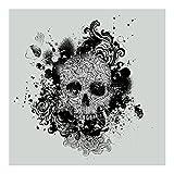 Vliestapete Premium–Skull–Wandbild eckig