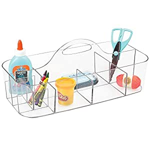 mdesign tragbare aufbewahrungsbox f r bastelbedarf. Black Bedroom Furniture Sets. Home Design Ideas