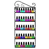 YUDA Organizador de Almacenamiento de esmaltes de uñas, 5 Niveles, Estante de Pared para Esmalte de uñas, 50 Botellas de Aceite Esencial